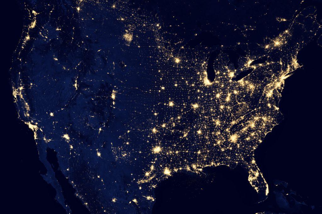 Pollution lumineuse états-unis